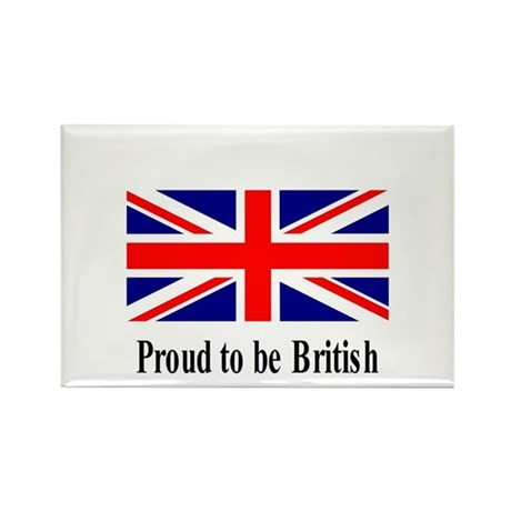 Proud to be British Rectangle Magnet (100 pack)