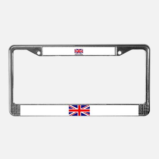Proud to be British License Plate Frame