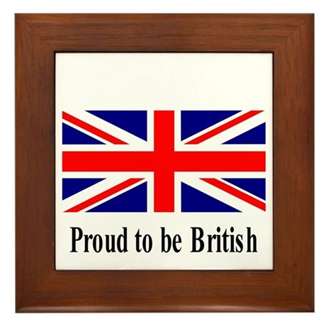 Proud to be British Framed Tile