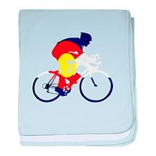 Colorado Cycling baby blanket