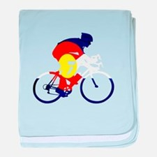 Colorado Cycling baby blanket