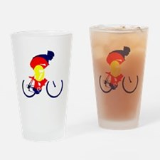Colorado Cycling Drinking Glass