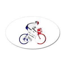 le Tour de France 38.5 x 24.5 Oval Wall Peel