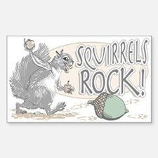 Squirrels Rock Rectangle Decal