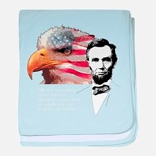Abraham Lincoln Quote 3 baby blanket