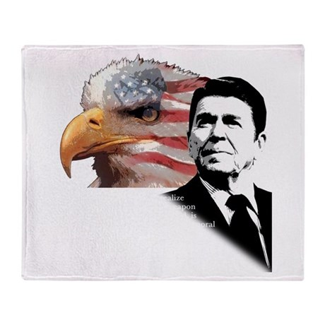 Ronald Reagan Quote Throw Blanket