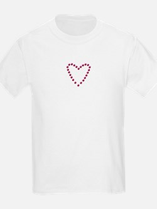 Fake Rhinestone Heart Kids T-Shirt