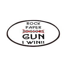 Rock Paper Scissors Gun I Win Patches