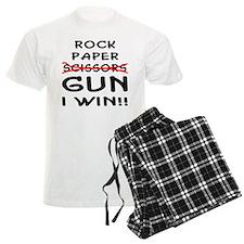 Rock Paper Scissors Gun I Win Pajamas