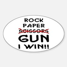 Rock Paper Scissors Gun I Win Decal