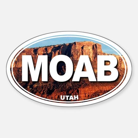 Moab, Utah - Oval Decal