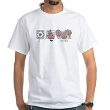 I Love Brains Zombie Shirt