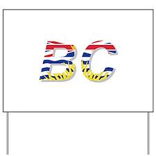 BC British Columbia Flag Yard Sign