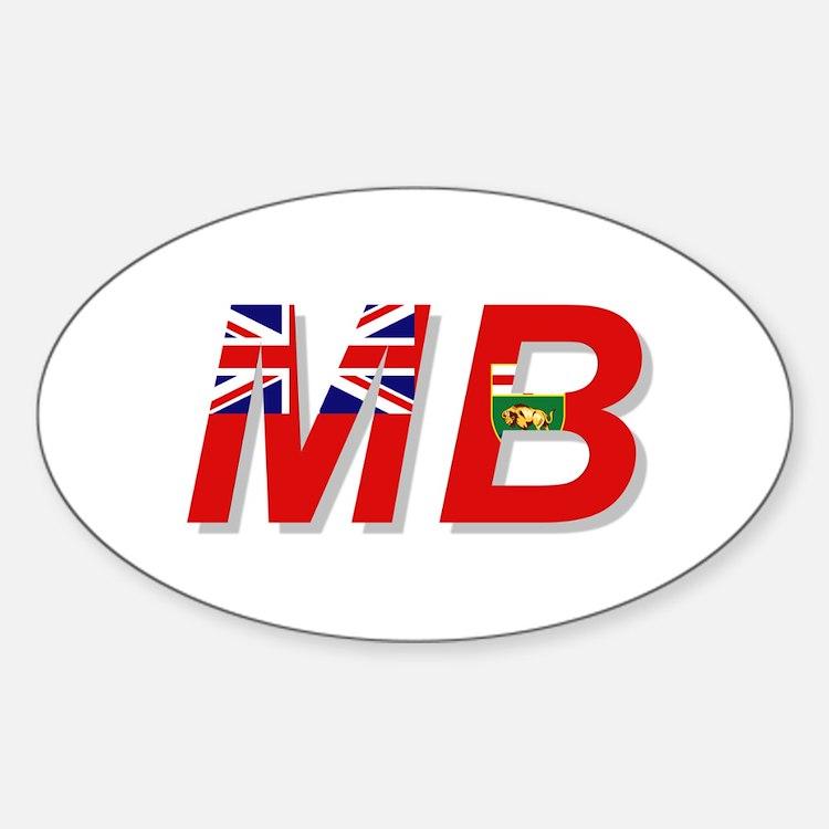 Manitoba MB Sticker (Oval)