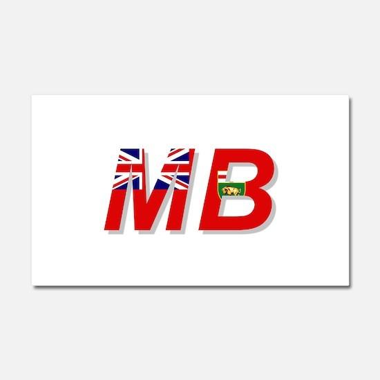 Manitoba MB Car Magnet 20 x 12