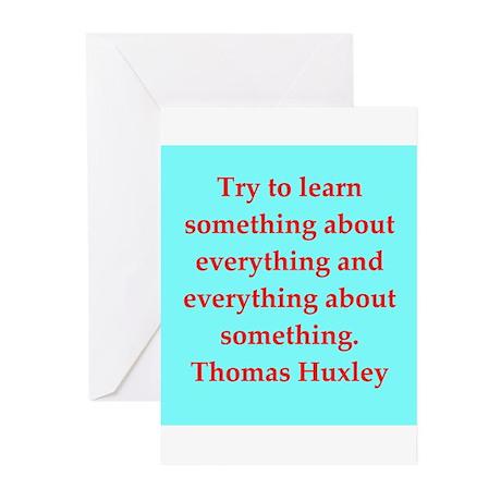 Thomas Huxley quotes Greeting Cards (Pk of 10)