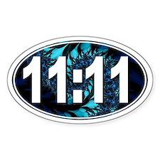 11:11 Numerology (Fractal Design) Oval Decal