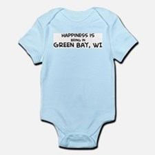 Happiness is Green Bay Infant Creeper