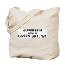 Happiness is Green Bay Tote Bag