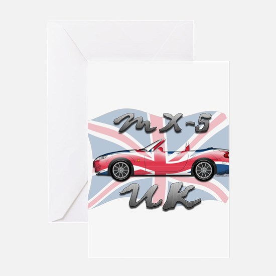 Cute Miata uk Greeting Card