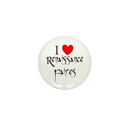 """""""I Love Renaissance Faires"""" Mini Button (10 pack)"""