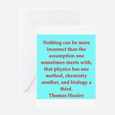 Thomas Huxley quotes Greeting Card