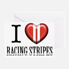 Cute Racing stripes Greeting Card