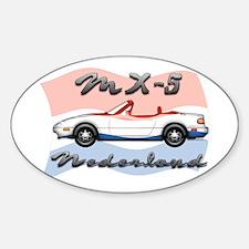 Unique Mx 5 Sticker (Oval)