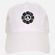 Peace Symbol Flower Baseball Baseball Cap