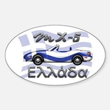 Funny Mx 5 Sticker (Oval)