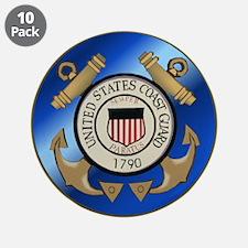 """Vintage Coast Guard 3.5"""" Button (10 pack)"""