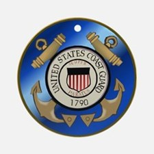 Vintage Coast Guard Ornament (Round)