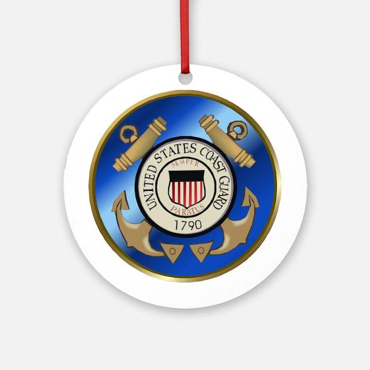 Vintage Coast Guard Ornament (Round)