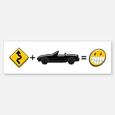 Curves + MX-5 = Fun Sticker (Bumper)