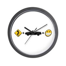 Curves + MX-5 = Fun Wall Clock