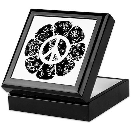 Peace Flower Keepsake Box
