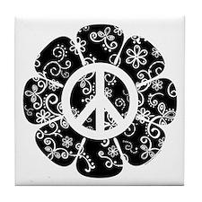 Peace Flower Tile Coaster