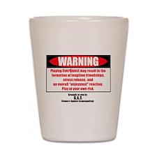 EQ Warning Label Shot Glass