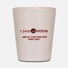 I Faced Asheron: Shot Glass