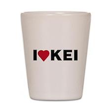 I heart KEI Shot Glass