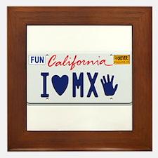 Funny California license Framed Tile