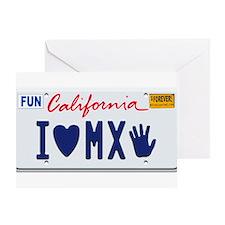 Cute California license Greeting Card