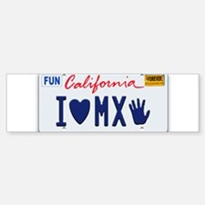 Cute California license Sticker (Bumper)