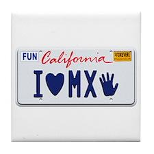 Cute California license Tile Coaster