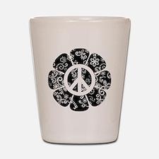 Peace Symbol Flower Shot Glass