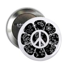 "Peace Flower 2.25"" Button"