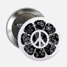 "Peace Flower 2.25"" Button"