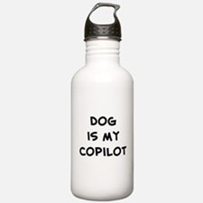 dog is my copilot Water Bottle