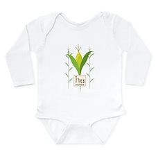 Corn Husky Long Sleeve Infant Onesie