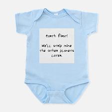 strip mine planets Infant Bodysuit